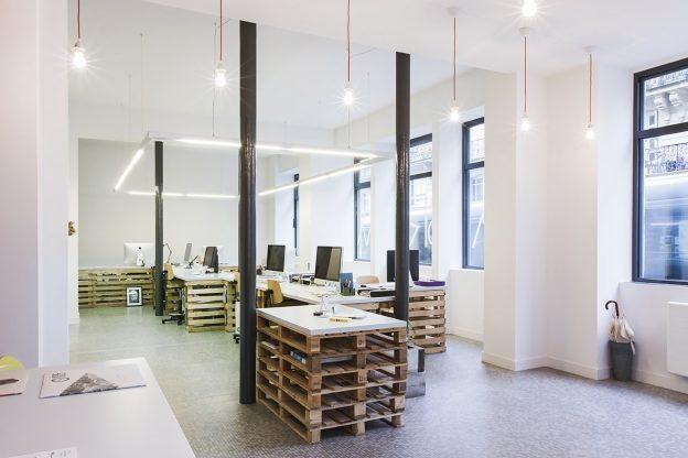 Je travaille avec d'autres prestataires dans ce coworking au centre de Bordeaux.