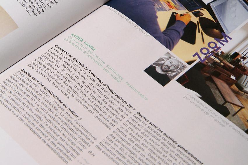 Conception rédaction d'un guide autour de formations dans les métiers de la création et de la communication à Bordeaux et en Aquitaine.