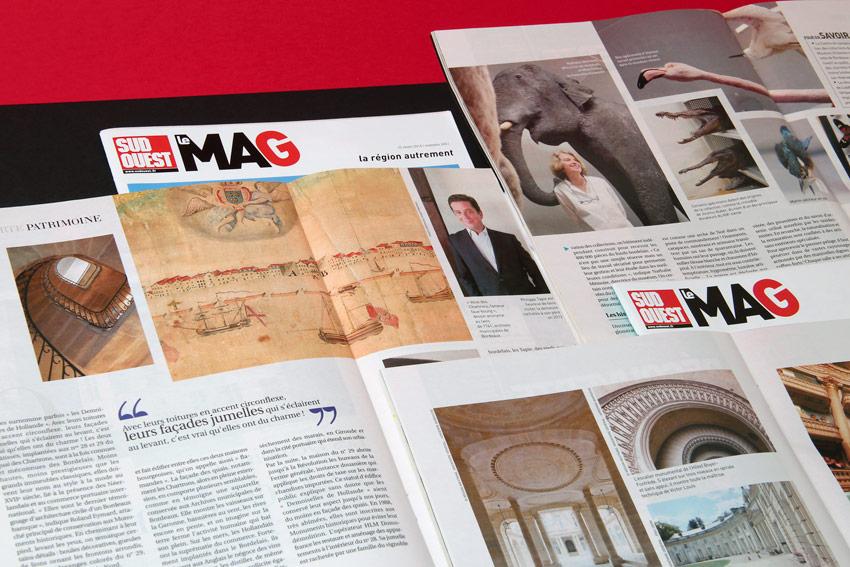 Je réalise articles et photos pour le magazine du grouupe Sud-Ouest : Le Mag.