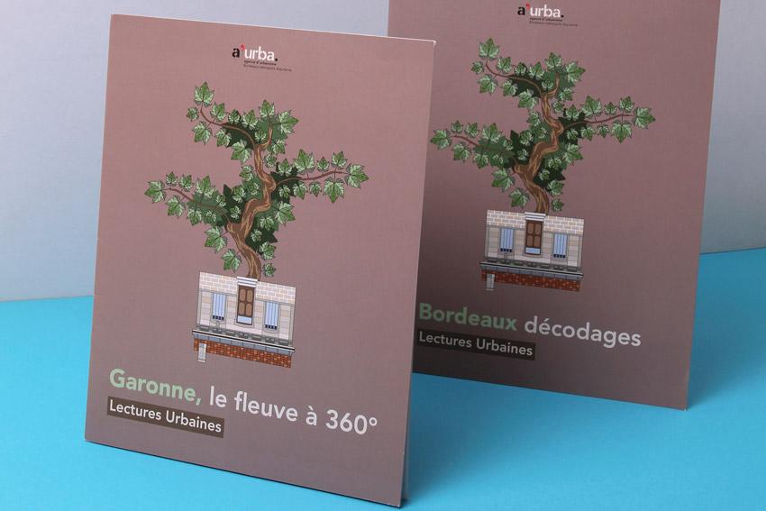 Deux livrets d'une collection consacrée à l'urbanisme de Bordeaux.
