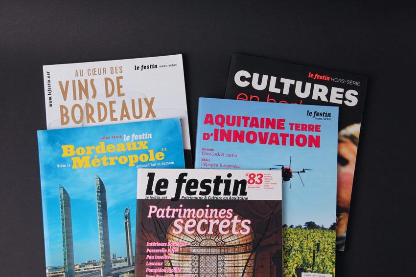 Journaliste professionnel, je collabore régulièrement à la revue bordelaise Le Festin.
