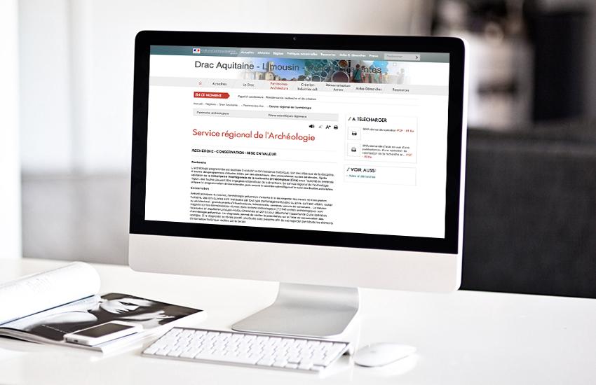 Rédaction web des pages patrimoine du site de la Drac ALPC.