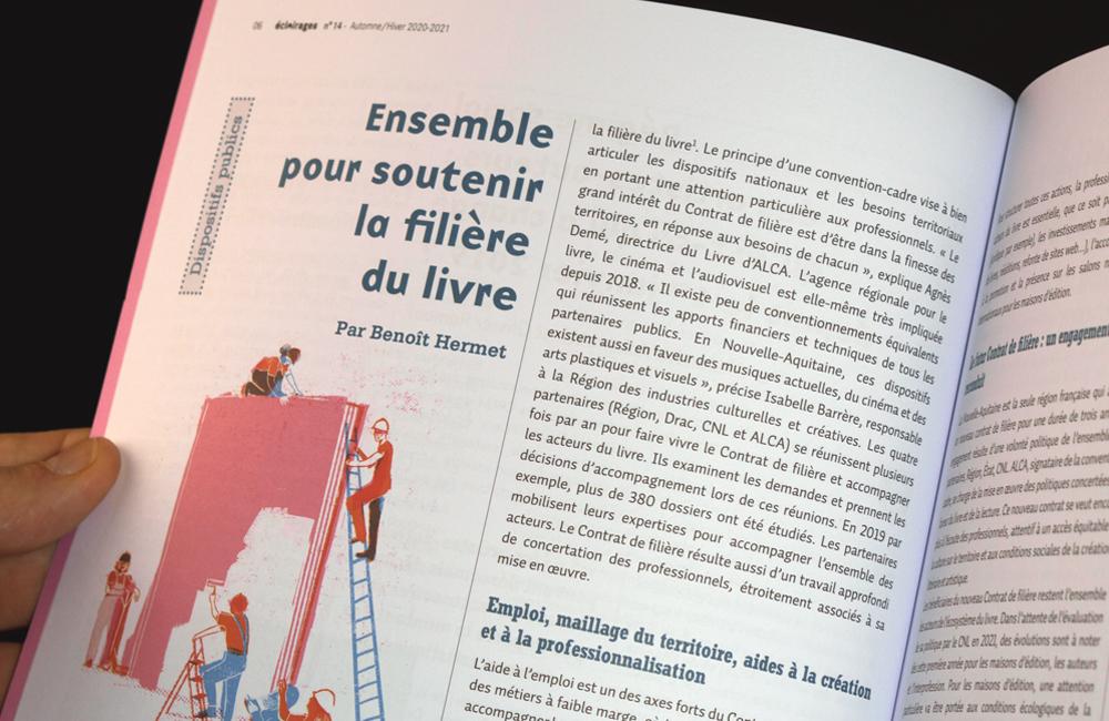 Un article écrit sur la filière livre en Nouvelle-Aquitaine.