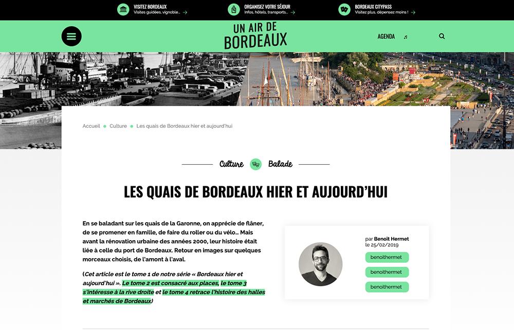 Un article écrit pour le webzine de Bordeaux.